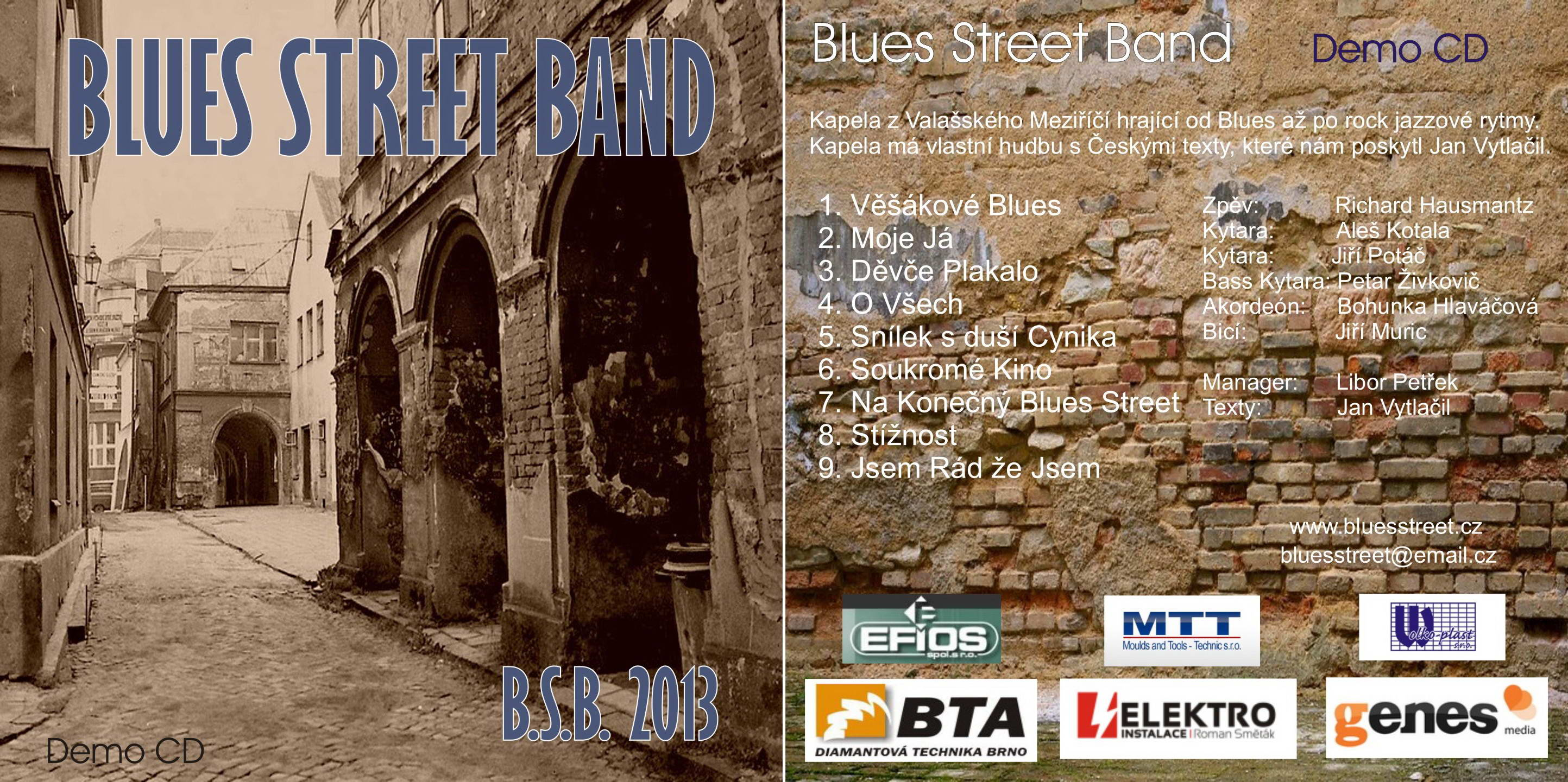 Blues Street band cover CD
